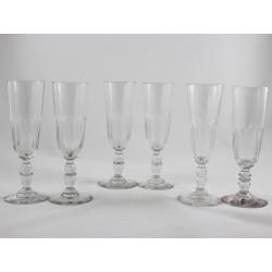 Set of Six Champagne Flutes