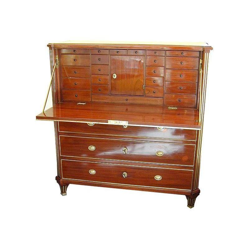 Antiquitäten Antike Möbel Mahagonimöbel Schreibschrank Sekretär