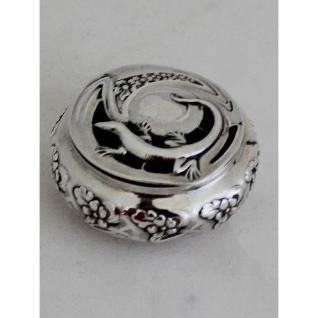 Silver Art Nouveau Scent Box