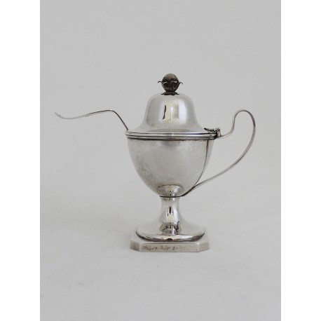 Classicism Silver Sugar Bowl with spoon