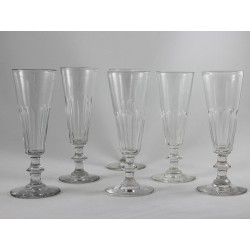 Set of Six Champagne Flutes