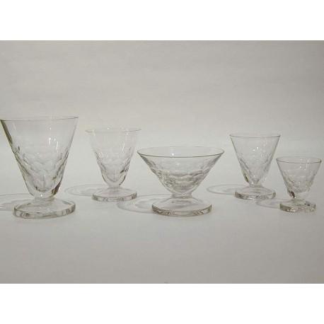 Art Déco Glasservice - 30 Teile