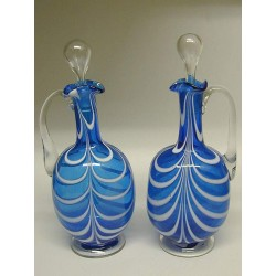 Pair Decanters with Handles