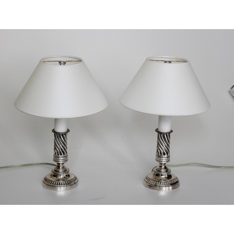 Pair of small Candlestick Lamps