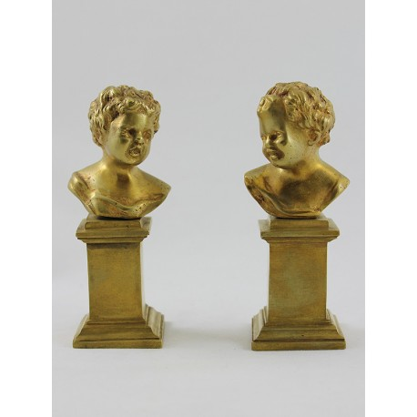 Pair of Children Busts