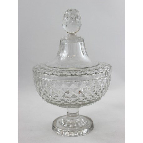 Voneche-Glass Bowl with Cover